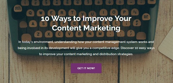 10 Ways to Improve your Content Marketing Guide
