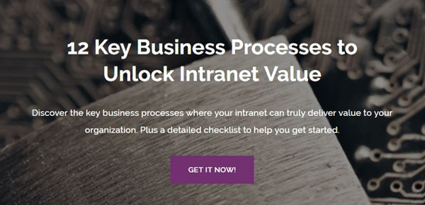 12 Key Business Processes to Unlock Intranet Value Guide