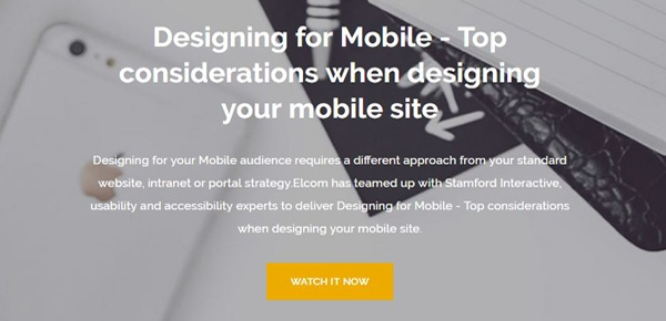 Designing for Mobile Webinar