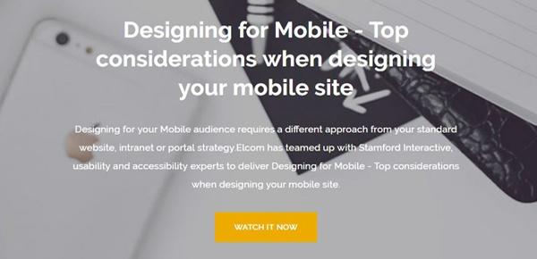 Designing for Mobile Webinar
