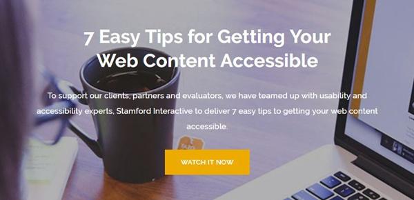 Accessible Web Content Webinar