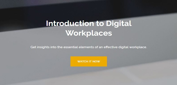 Introduction to Digital Workplaces Webinar