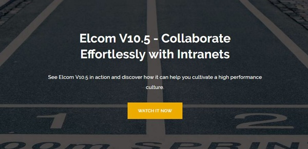 Elcom V10.5 - Collaborate Effortlessly with Intranets Webinar