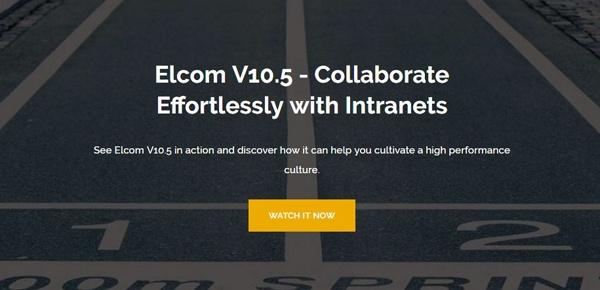 Elcom V10.5 - Collaborate Effortlessly with Intranets Webinar
